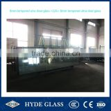 8mm+12A+8mm tempered ultra clear insulated double glazing glass IGU curtain wall building glass