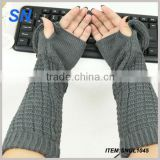 hot fashion high quality ladies stock warm promotional long sleeve knitted gloves