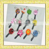 cheap friendship color pvc novelty 2013 fashion novel key head cover