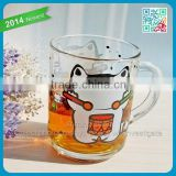 China housewares animal cartoon mug cute drinking mugs with handle cappuccino glass cup oversized cartoon mug