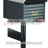 Foshan JHC-1026 Post Mounted Mailbox/Powder Coated Wood Strip Shape Durable Letterbox/Aluminum Postbox