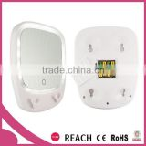 Multifunctional bathroom lighted mirror with razor hook / magnification suction cup bathroom wall mirror