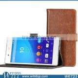 For Sony Xperia Z3+ Leather Case, Crazy Horse Wallet Leather Flip Stand Case for Sony Xperia Z3+ Plus E6553