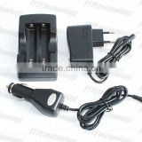 HXY 2A 18650 double groove 3.7V Li-ion battery charger car charger