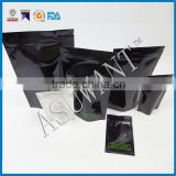 Black mylar smell proof ziplock aluminium foil bag/aluminum foil ziplock mylar medical bag/ziplock bag with design