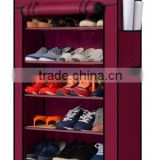 Shoes furniture metal cabinet used for shoes storage/ adjustable double storage shoe rack