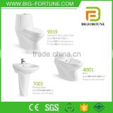 popual bathroom pedestal ceramic toilet basin set                                                                         Quality Choice