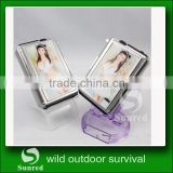 2014 fashion metal automatic cigarette case with refillable flame lighter