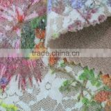 nylon spandex Lace Bonded multicolored embroidery lace fabric stretch austrian lace fabric