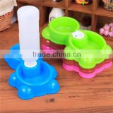dog plastic feeder bowl dog water bowl double water bowl pet feeder