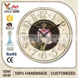 Newest Design Custom Printed Creative Items Acrylic Clock / Wall Clocks / Plexiglass Clock
