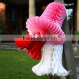 tissue bell honeycomb ball for decorate outside of the house birthday party