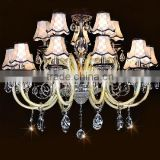 Luxury crystal chandelier with glass chandelier bohemia