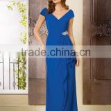 Royal Blue Evening Dress 2015 Straight Party Dress Long Prom Dress Beaded Mother Of The Bride Dress Formal Dress XP-58