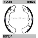 car spare parts K5510 43153-SAO-013 for Honda rear brake shoes replacement