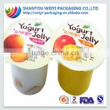 Custom color printed ldpe film scrap for fruit jelly cup