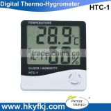 most popular Large led display digital wall clock thermometer hygrometer with clock alarm