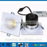 IP65 pure white downlights led led bathroom square downlight COB