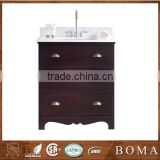 2016 Made In China Superior Craftsmanship Chinese Single Sink Solid Wood Bathroom Vanity