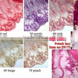 2014 french lace wholesale silk fabric/ chiffion fabric lace for wedding
