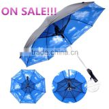 Promotion straight golf solar umbrellas with fans                                                                         Quality Choice