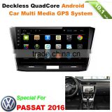 10.1inch Android car dvd video player GPs with HD touch screen 1024x600 for VOLKSWAGEN PASSAT 2016 With wifi bluetooth internet