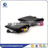 Low MOQ drawstring leather pouch for gift from china factory