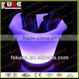 2013 New Flahsing plastic led ice bucket for wholesale/Factory direct sale color changing rechargeable led ice bucket