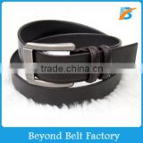 "Beyond Mens 1 1/4"" Casual Harness Leather Belt with Two Leather Roller and Dull Pin Enclosure"