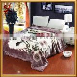 Super Soft Micro Plush Mink Blanket Flower Printed Raschel Blanket 220x240CM