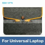 "Luxury 11"" 13"" 15"" Damage Resistance wool felt Laptop Case Bag For Universal Laptop Tablet Case Sleeve With Leather Edge"