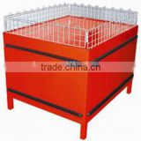 RH-PT008 promotion table promotion stand 1100*900*900 foldable promotion desk with wire mesh cover guardrails
