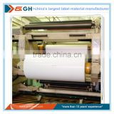 Laminated Thermal label rolls as raw material for baggage tag and high quality logistic labels