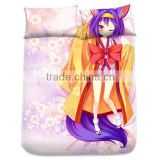 New Hatsuse Isuna - No Game No Life Japanese Anime Bed Sheet with Pillow Covers Blanket 3