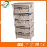 Cube Water Oil Painted Baskets Wooden Storage Cabinets