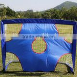 mini football goal with shooting target