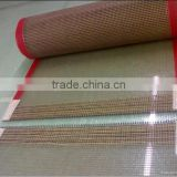 China Heat resistant Non-sticky ptfe coated fiberglass open mesh conveyor belt UV resitance belt Food dryer belt.