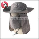 Men Women Hiking Fishing Ear Neck Cover Sun Hat Army green windproof Outdoor Cap