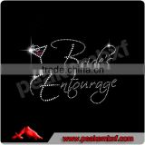 Beautiful rhinestone transfer brides' entourage trimmings for dresses