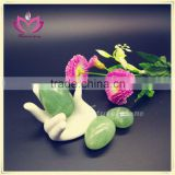 health care plevic muscle exercise ball natural dark green jade kegel eggs nephrite jade eggs