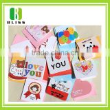 Paper Handmade Decoration Birthday folding thank you custom design die cut a4 size christmas greeting paper card