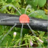 Flow adjustable micro irrigation emitter for drip irrigation