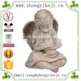 2015 chinese factory custom made handmade carved hot new products resin life size angel statue