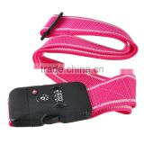 2m 3Dial Combination TSA Black Lock Luggage Suitcase Secure Safe Strap Belt Pink