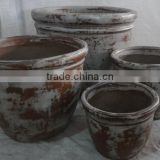 Viet Nam Glazed Outdoor Rustic Pots - Round and Medium Rustic Pots