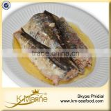 Wholesale 125g Ingredient Canned Sardine Fish in Sunflower Oil