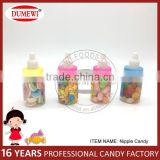 Pressed Candy Marshmallow Jelly Bean Mixed in Baby Nipple Bottle
