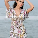 Women Cover up Cool Floral Pattern Summer Beach Dress Swimwear Smock Top SV002465
