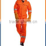 Orange breathable Mens hivis reflective for adult fire retardant /mens coverall for adult Car Maintenance Safety coverall