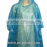 hooded plastic disposable rain coat for women with strap for sale